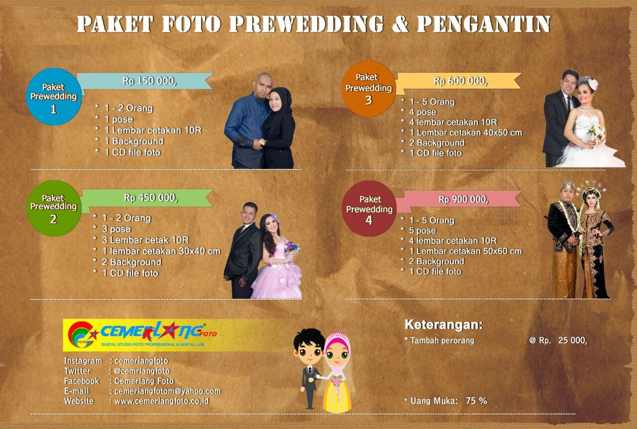 Paket Foto Prawedding & Pengantin